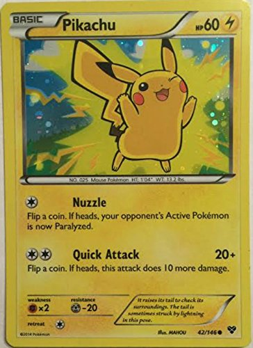 Pokemon Card - Pikachu (42/146) - XY - Holofoil - Movie Promo