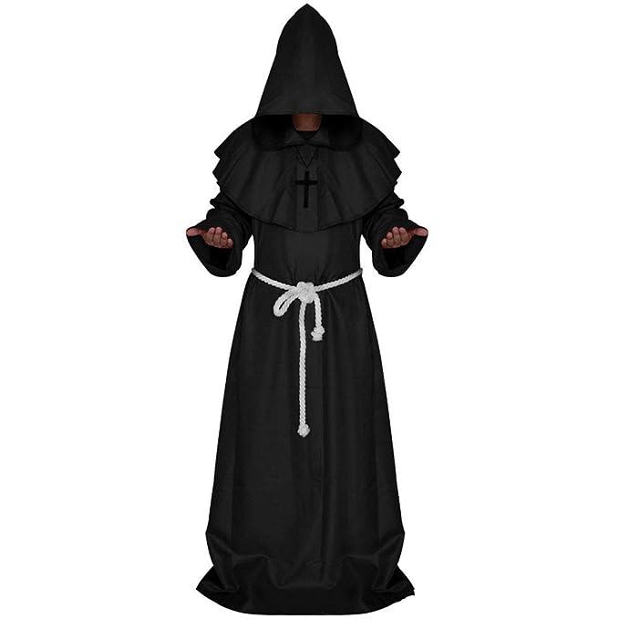 Traje De Halloween-Traje Medieval Del Monk, Traje De Mago ...