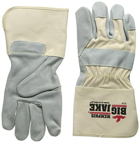 Memphis Glove 1710XL Big Jake Cow Leather Sewn Kevlar Gloves with 4-1/2-Inch Gauntlet Cuff, Natural Pearl, X-Large, 1-Pair by MCR Safety