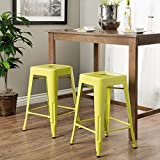 Tabouret 24-inch Limeade Metal Counter Stools 36700437 – 8739778 (Set of 2) Review