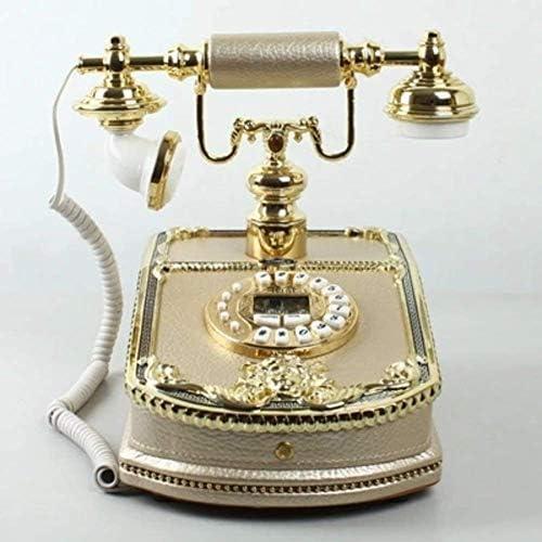 BZM-ZM ソリッドウッド、ヨーロッパスタイル、[クリエイティブ]電話、古い、[レトロ]、手描きのパターン、有線-B 8x10inch