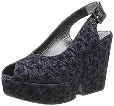 Robert Clergerie Women's Dylant Wedge Pump,Navy,36.5 EU/6 B US