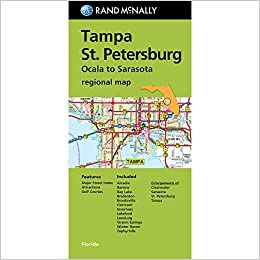 Folded Map Tampa and St Petersburg Regional Map Rand McNally