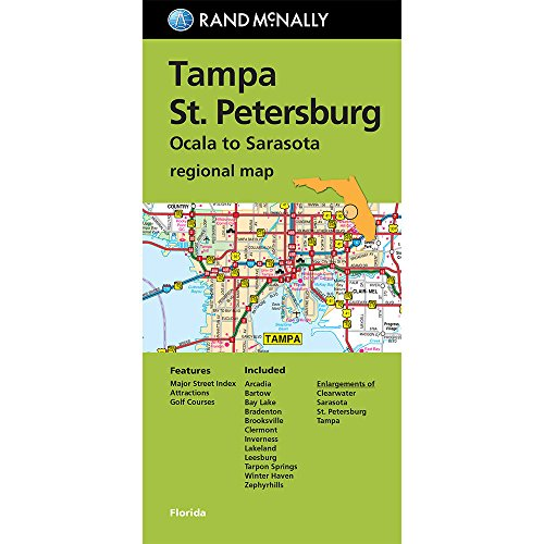 Folded Map: Tampa and St. Petersburg Regional Map