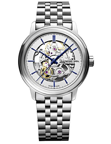 Raymond Weil Men's 'Maestro' Quartz Stainless Steel Casual Watch, Color:Silver-Toned (Model: 2215-ST-65001) by Raymond Weil