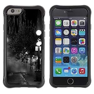 "Hypernova Defender Series TPU protection Cas Case Coque pour Apple Iphone 6 PLUS 5.5 [Lámpara Negro Blanco Noche de fotos""]"
