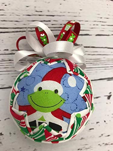 Frog Quilted (Hoppy Christmas Frog Ornament)
