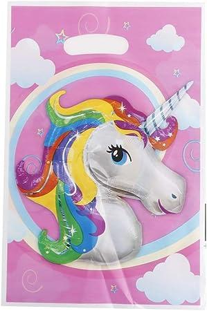 Unicornio Fiesta Bolsas X 6 Rosa Unicornio botín bolsas Niñas Cumpleaños favor Niños Diversión