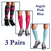 dimok Calf Compression Sleeves Pair - Leg Compression Socks for Calves Running Women Men - Best for Shin Splint Muscle Pain Better Circulation from dimok