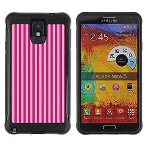 Fuerte Suave TPU GEL Caso Carcasa de Protección Funda para Samsung Note 3 / Business Style Purple Stripes Lines Fashion Pattern