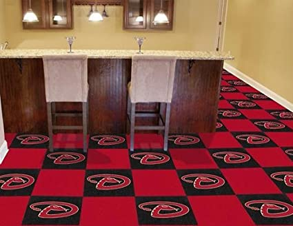 FANMATS MLB Arizona Diamondbacks Nylon Face Team Carpet Tiles 8574