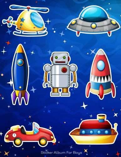 Read Online Sticker Album For Boys: 100 Plus Pages For PERMANENT Sticker Collection, Activity Book For Boys, Blue - 8.5 by 11 (More Kool Kidz) (Volume 20) pdf epub