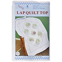Jack Dempsey Stamped White Lap Quilt Top, 40-Inch by 60-Inch, Great Outdoors