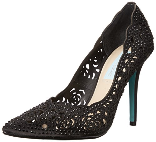 Blue by Betsey Johnson Women's SB-ELSA Black Satin 6 M US ()