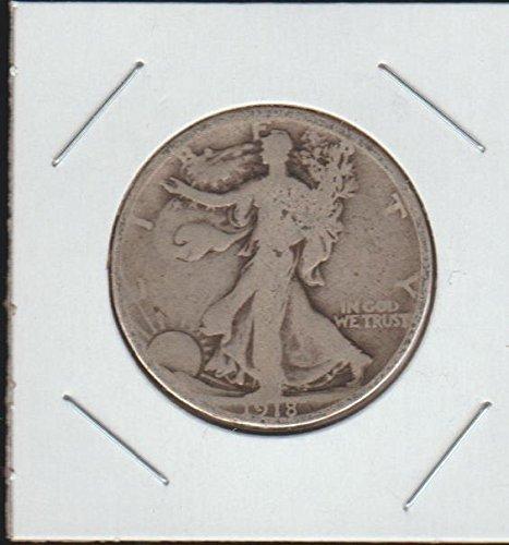 1918 Half Silver Dollar (1918 Liberty Walking (1916-1947) Half Dollar Very Good)