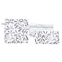 Bumkins Nixi Reusable Snack Bag Large Single & 2 Pack, Petals/Pyramids