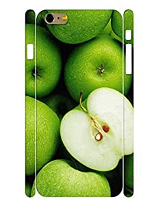 Fruits Series Cell Phone Case With Fresh Green Design Hard Plastic Case Cover for Iphone 6 Plus (5.5) Inch