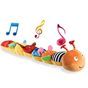 LIGHTDESIRE Musical Toy Caterpillar [Newest] Crinkle Rattle Soft with Ring Bell Toddler Plush Toy for Preschool Kid