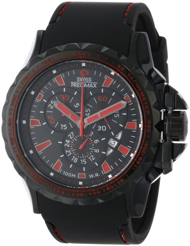 Swiss Precimax Men's SP13151 Command Pro Sport Black Dial with Black Polyurethane Band Watch