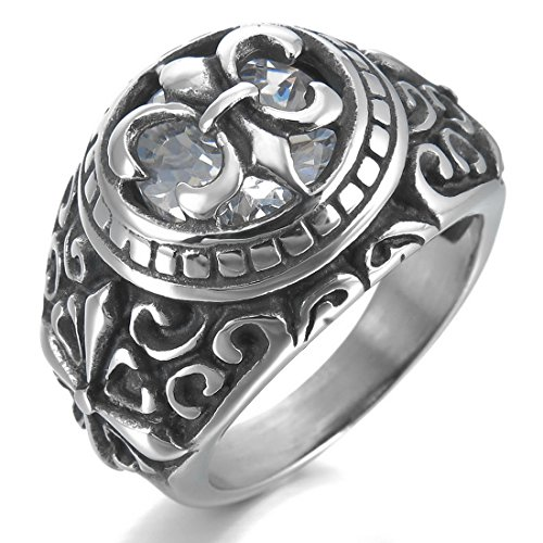 INBLUE Stainless Silver Celtic Medieval