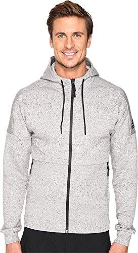 adidas Men's ID Stadium Full Zip Hoodie Medium Grey Heather Solid Grey Sweatshirt