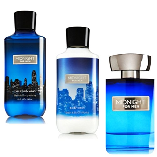 BATH AND BODY WORKS,MIDNIGHT FOR MEN GIFT SET ,LOTION,BODY WASH,COLOGNE SPRAY.. by Bath & Body Works