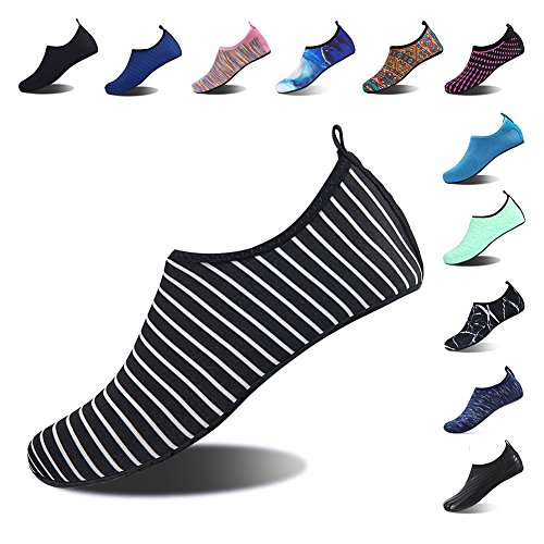 Yoga Diving Womens Water Zebra Pool Beach Mens Dry Barefoot for Snorkeling Surf Shoes Socks Black Shoes Quick Spotrs Swim Aqua PddOqwT