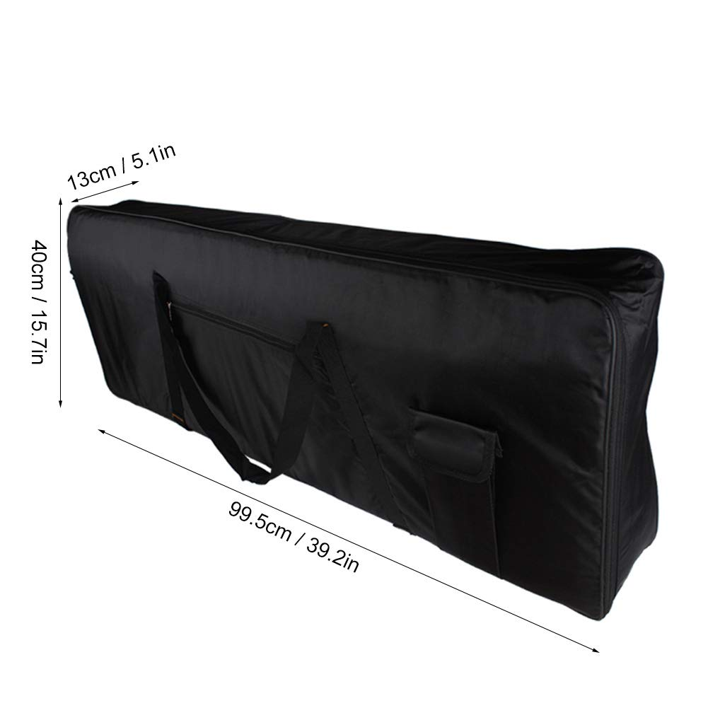 Keyboard Piano Bag, Portable Large Keyboard Bag Water Resistance Wireless Keyboard Bag Black (88 Keys) Dilwe Dilwe5wkrqac1e0-01
