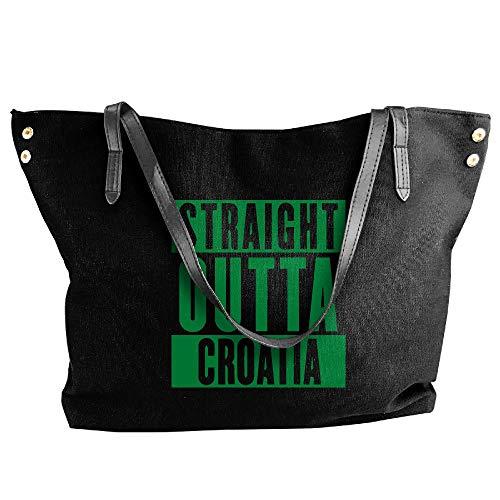 Tote Handbag Shoulder Croatia Messenger Bag Straight Canvas Outta Black Large Tote Hobo Women's qFnwPCIABw