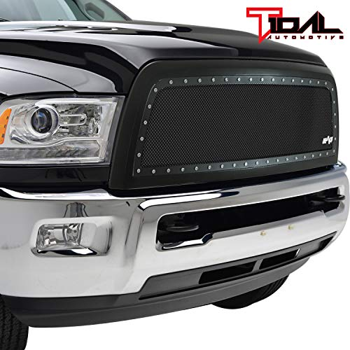 (Rivet Stainless Steel Wire Mesh Grille W/Shell for 13-18 Dodge Ram 2500/3500)