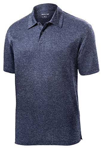 Sport Tek Men's Lightweight Breathable Polo T Shirt - True Navy Hthr ST660 S