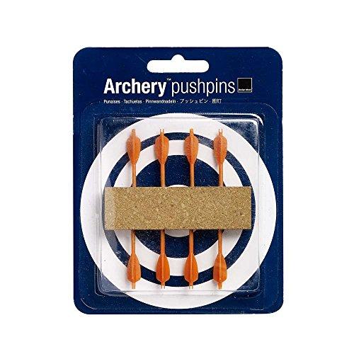 - Design Ideas Archery Push Pins, Set of 8 Orange Arrows