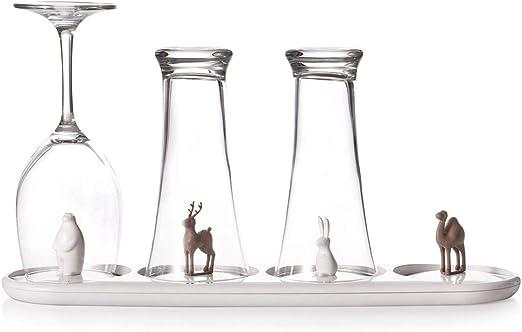 wisfruit organizador creativo de cocina con soporte para drenaje de vasos Soporte para bastidor de secado de vasos