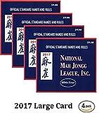 National Mah Jongg League 2017 Scorecard - Large Print (4 Pack)