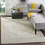 Safavieh Adirondack Collection ADR108S Ivory and Slate Oriental Vintage Medallion Area Rug (3' x 5')