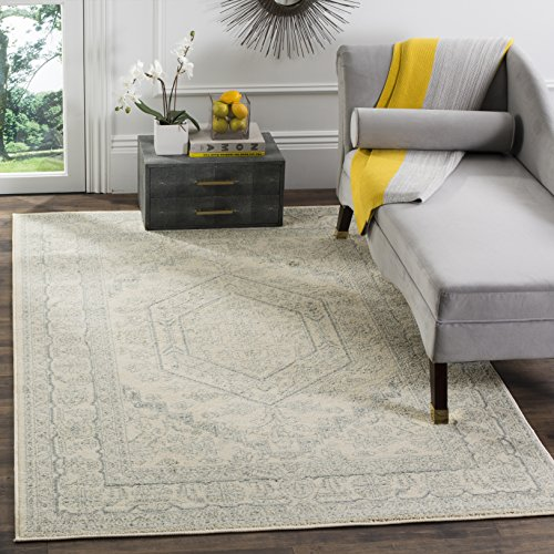 Safavieh Adirondack Collection ADR108S Ivory and Slate Oriental Vintage Medallion Area Rug (8' x 10') ()