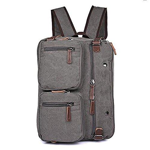 """7e104c947d3 Gudui 15.6"""" Men s Messenger Bag Vintage Retro Canvas Convertible Backpack  Shoulder Laptop Bags Business Briefcase"""