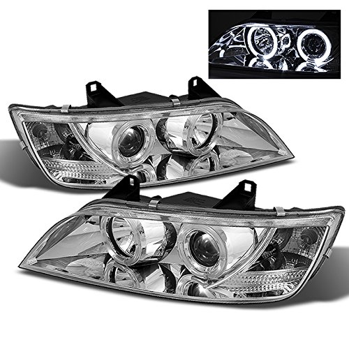 For BMW E37 Z3 Coupe Halogen Type Chrome Clear Dual Halo Ring Projector Headlights Lamps Replacement Set (96 Bmw Headlights)