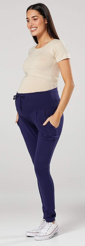 Damen Hosen Umstandsmoden Elastischer Bauchband Tiefem Schritt HAPPY MAMA 583p