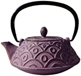 Old Dutch Cast Iron Kyoto Teapot, 26-Ounce, Greek Wine