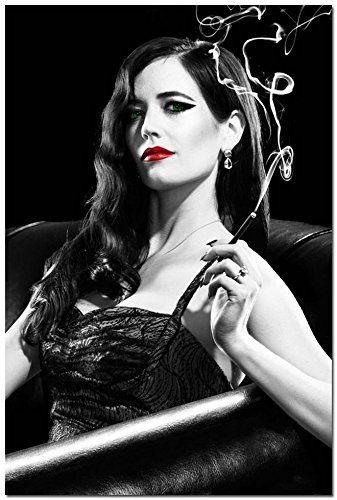 makeuseof 24x36inch Sin City A Dame to Kill For Eva Green Banned Silk Wall Poster 001
