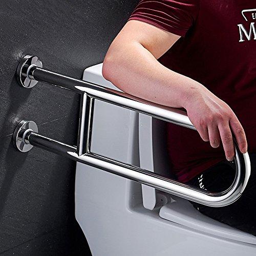 QFFL fushou Bathroom Handrails/Stainless Steel Support Handle/Elderly Toilet Washbasin Non-Slip U-Type Armrest/Shower Handgrip Handle Grab Bar (2 (Size : 6020cm)