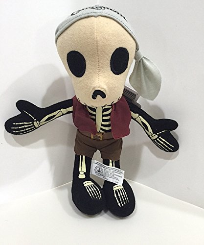Disney Parks Pirates of the Caribbean Skeleton Plush Doll - World Typhoon Lagoon Disney