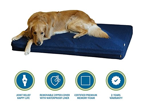 PetBed4Less Premium Orthopedic Memory Foam Pet Bed Dog Bed S