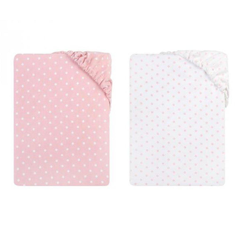 Pack de 2 sábanas bajeras para cuna 120x60 cm