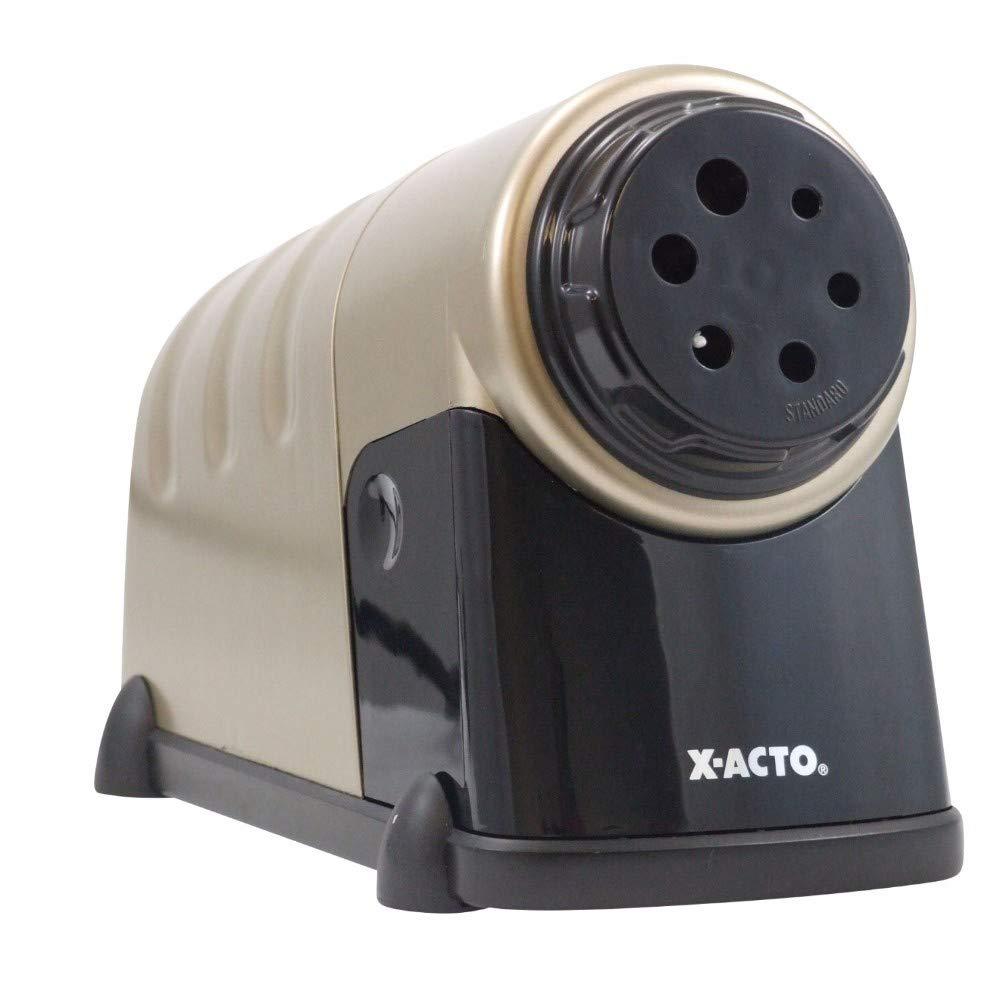 X-ACTO 000987 Heavy Duty Electric Pencil Sharpener with Auto Shut Off44; Beige - Dark Gray
