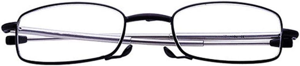 HKD Read Optics Occhiali Pieghevoli Aste Telescopiche Occhiali da Lettura Ipermetropia Anti-Fatica Occhiali Perfetti per Uomo E per Donna Color : Red, Size : +1.00