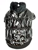 ROYAL ANIMALS Dog Coat, Large, Shiny Metallic Black
