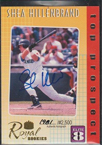 (2000 Royal Rookies Shea Hillenbrand Orioles 1981/2500 Autographed Baseball Card #8)