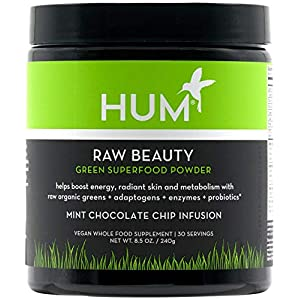 HUM Raw Beauty Greens Superfood Powder - Vegan Adaptogens, Enzymes & Probiotics Supplement Supports Radiant Skin… 16